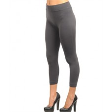CHARCOAL FASHION CAPRI SEAMLESS