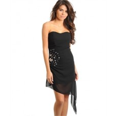 BLACK WITH STONE DRESS