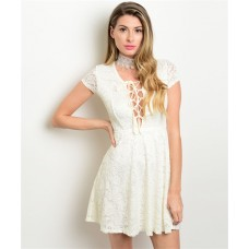 LACE FEATURES DRESS