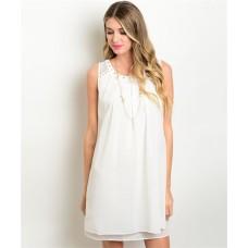 111-5-4-T826 OFF WHITE DRESS