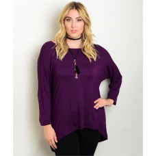 RELAX FIT PURPLE TOP