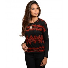 RUST BLACK SWEATER