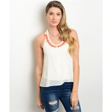 IVORY CORAL TOP