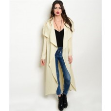 IVORY COAT  Fabric Content: 100% POLYESTER